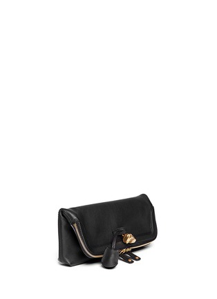 Figure View - Click To Enlarge - Alexander McQueen - 'Padlock' leather clutch