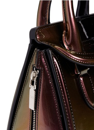 Detail View - Click To Enlarge - Alexander McQueen - 'Heroine' mini iridescent effect patent leather satchel