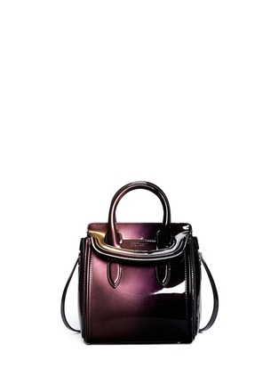 Main View - Click To Enlarge - Alexander McQueen - 'Heroine' mini iridescent effect patent leather satchel