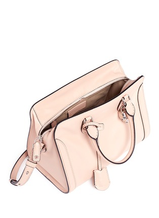 Detail View - Click To Enlarge - Alexander McQueen - 'Padlock' small leather tote