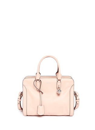 Main View - Click To Enlarge - Alexander McQueen - 'Padlock' small leather tote