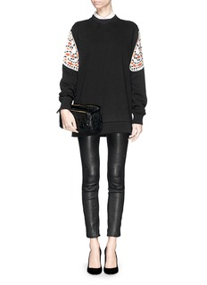 GIVENCHY Oversized satin butterfly wing sweatshirt