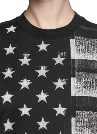 Detail View - Click To Enlarge - Givenchy - American flag photo print tank top