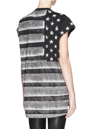 Back View - Click To Enlarge - Givenchy - American flag photo print tank top