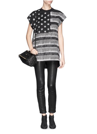 Figure View - Click To Enlarge - Givenchy - American flag photo print tank top