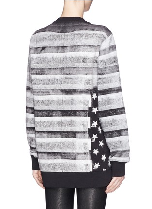 Back View - Click To Enlarge - Givenchy Beauty - American flag photo print sweatshirt