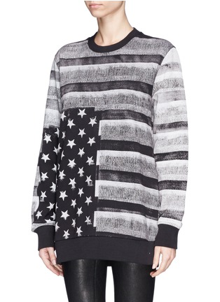 Front View - Click To Enlarge - Givenchy Beauty - American flag photo print sweatshirt