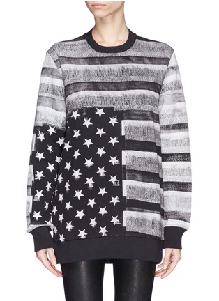 Main View - Click To Enlarge - Givenchy Beauty - American flag photo print sweatshirt