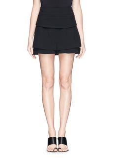 GIVENCHY Double cuff skirt back crepe shorts