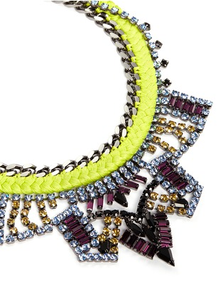 Detail View - Click To Enlarge - Joomi Lim - 'Rebel Romance' cotton braid crystal necklace