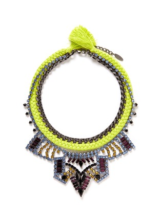 Main View - Click To Enlarge - Joomi Lim - 'Rebel Romance' cotton braid crystal necklace