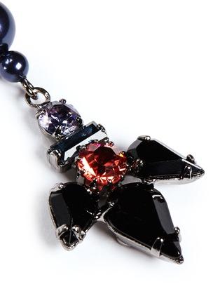 Detail View - Click To Enlarge - Joomi Lim - 'Rebel Romance' pearl crystal drop earrings