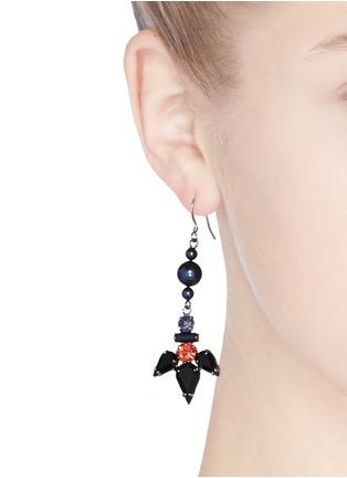 Figure View - Click To Enlarge - Joomi Lim - 'Rebel Romance' pearl crystal drop earrings
