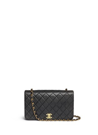 Main View - Click To Enlarge - Vintage Chanel - Quilted leather full flap bag