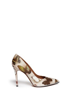 GIVENCHY Butterfly print leather pumps
