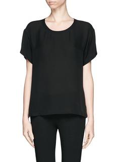 THEORYRound neck silk T-shirt