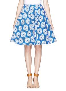 ALICE + OLIVIAEarla high-waist floral flare skirt