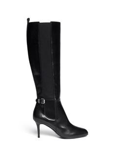 SERGIO ROSSI'Varenne' elastic gore leather boots