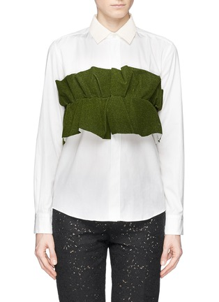 Main View - Click To Enlarge - TOGA ARCHIVES - Ruffle chest panel shirt