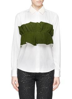 TOGA ARCHIVESRuffle chest panel shirt