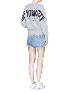 rag & bone'New York City' print French terry sweatshirt