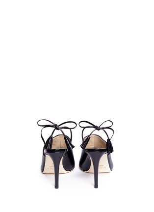 Back View - Click To Enlarge - Alexander White - 'Issey' tassel slingback leather mules