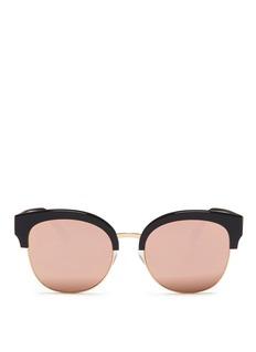 Spektre'Skyfall' acetate round mirror sunglasses