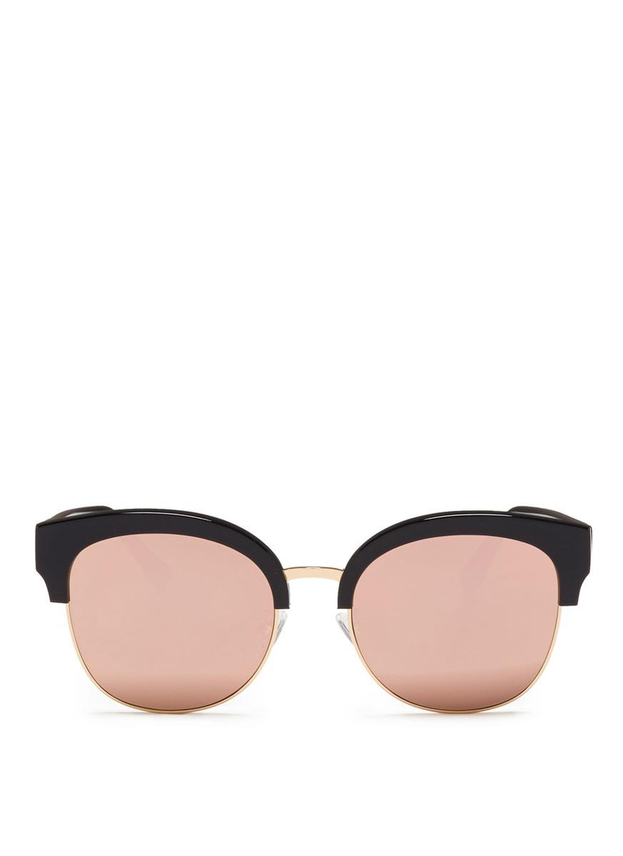 Skyfall acetate round mirror sunglasses by Spektre