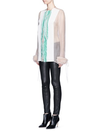 Front View - Click To Enlarge - Haider Ackermann - 'Dendi' mesh pleat silk organza shirt