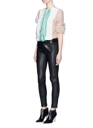 Figure View - Click To Enlarge - Haider Ackermann - 'Dendi' mesh pleat silk organza shirt