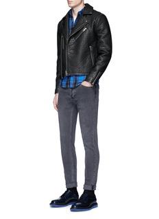 TopmanFaux leather biker jacket