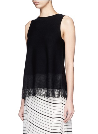 Front View - Click To Enlarge - Theory - 'Vendla' fringe knit tank top