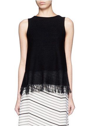 Main View - Click To Enlarge - Theory - 'Vendla' fringe knit tank top