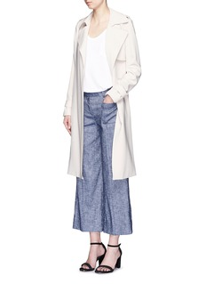 THEORY 'Livdale' linen chambray cropped wide leg pants