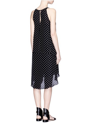 Back View - Click To Enlarge - Theory - 'Adlerdale' haze dot print silk georgette dress