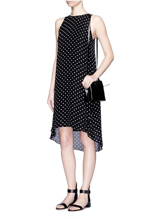 Figure View - Click To Enlarge - Theory - 'Adlerdale' haze dot print silk georgette dress