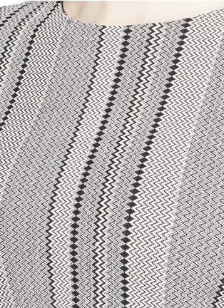 Detail View - Click To Enlarge - Theory - 'Ferson B' zigzag diamond intarsia sweater