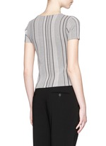 'Ferson B' zigzag diamond intarsia sweater