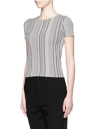 Front View - Click To Enlarge - Theory - 'Ferson B' zigzag diamond intarsia sweater