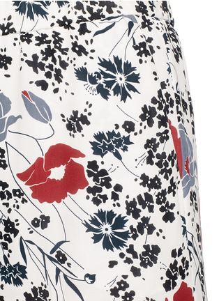 Detail View - Click To Enlarge - Theory - 'Raoka WB' floral print silk georgette pants