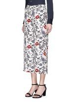 'Raoka WB' floral print silk georgette pants