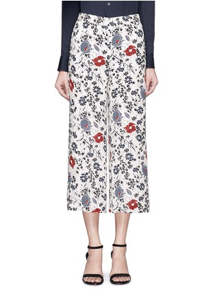 Main View - Click To Enlarge - Theory - 'Raoka WB' floral print silk georgette pants