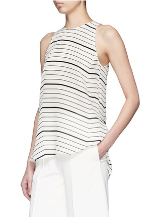 Front View - Click To Enlarge - Theory - 'Kalstinn' Bevel print silk sleeveless top