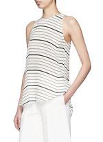 'Kalstinn' Bevel print silk sleeveless top