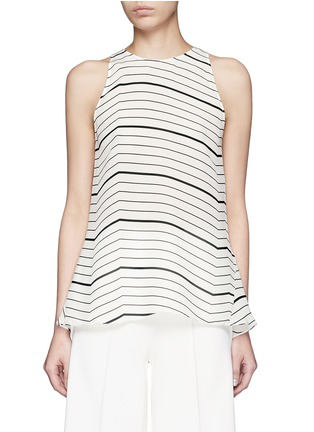Main View - Click To Enlarge - Theory - 'Kalstinn' Bevel print silk sleeveless top