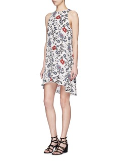 THEORY 'Adlerdale SL' floral print silk georgette dress