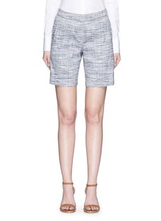 THEORY 'Figamore' plaid linen blend shorts
