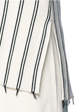 Theory-'Haydren' stripe V-neck sweater