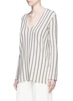 'Haydren' stripe V-neck sweater