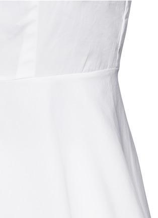Detail View - Click To Enlarge - Theory - 'Eyodis' peplum hem cotton poplin shirt